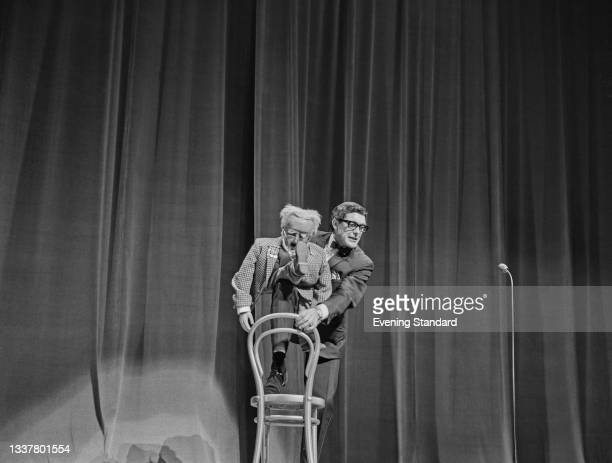 British ventriloquist Neville King on stage at the Royal Command Performance or Royal Variety Performance at the London Palladium, London, UK, 8th...