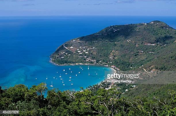British Virgin Island Tortola Island View Of Cane Garden Bay