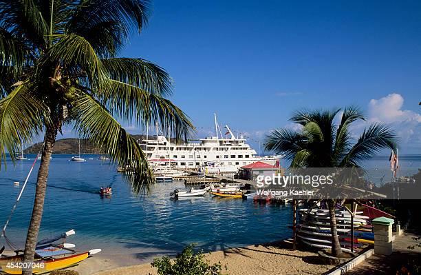 British Virgin Island, Virgin Gorda, Leverick Bay, Cruise Ship Nantucket Clipper.