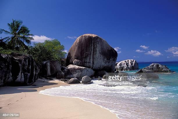 British Virgin Island, Virgin Gorda, The Baths, Granite Rock Formations.