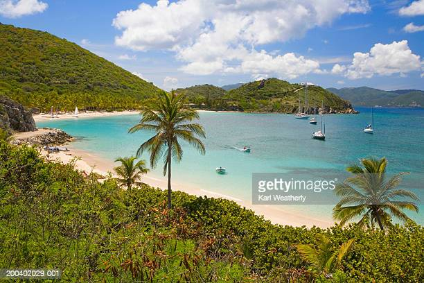 British Virgin Islands, Peter Island, boats in Deadman's Bay