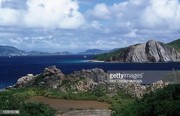 British Virgin Islands Peter Island coastline
