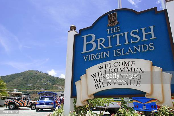 British Virgin Islands Tortola Road Town Sign Welcome