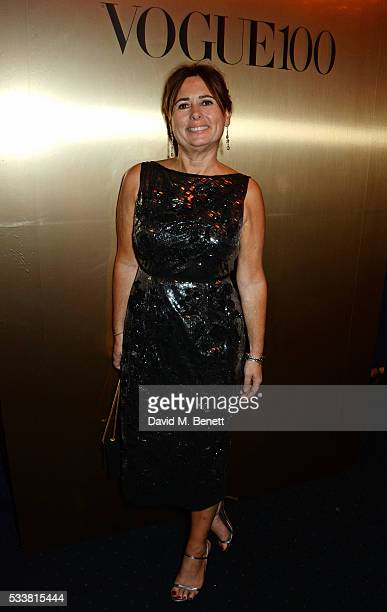 British Vogue editor Alexandra Shulman attends British Vogue's Centenary birthday party at Tramp on May 23 2016 in London England