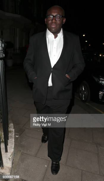 British Vogue editorinchief Edward Enninful hosts party to celebrate Stuart Weitzman's new Creative Director at Mark's Club on March 22 2018 in...