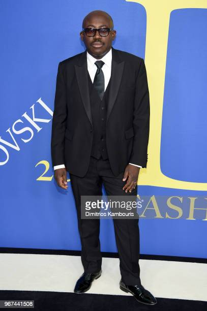 British Vogue EIC Edward Enninful attends the 2018 CFDA Fashion Awards at Brooklyn Museum on June 4 2018 in New York City