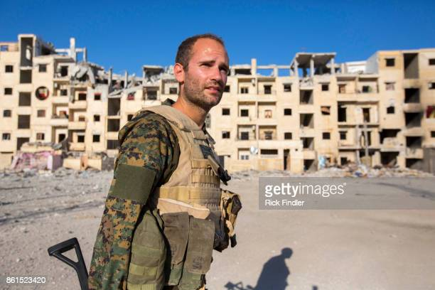 British volunteer fighter 'Macer Gifford' on August 19 2017 in Raqqa Syria Five years ago 'Macer Gifford' was working in London for The Foreign...