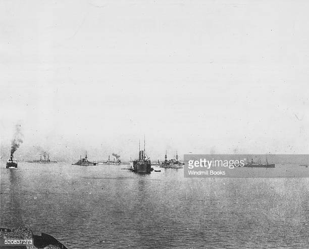 British warships and transports off Cape Helles