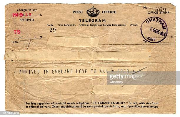 British wartime telegram - 1941