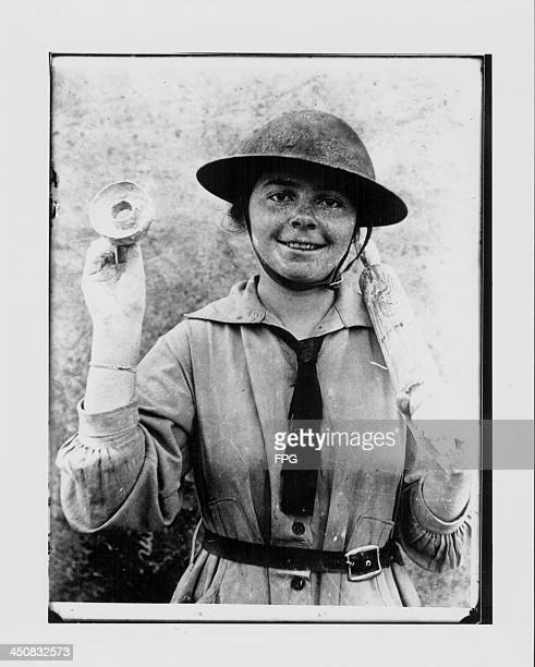 A British woman on duty with the Salvation Army during World War One aiding the war effort whilst the men are away USA circa 19141918