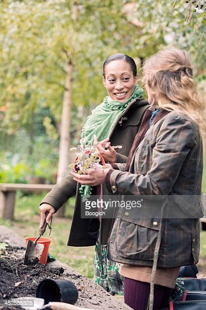 British Women Garden Outdoors in London England