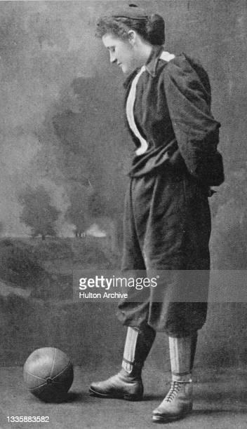British women's football pioneer Nettie Honeyball, the founder of the British Ladies' Football Club, the first known women's football club, poses...