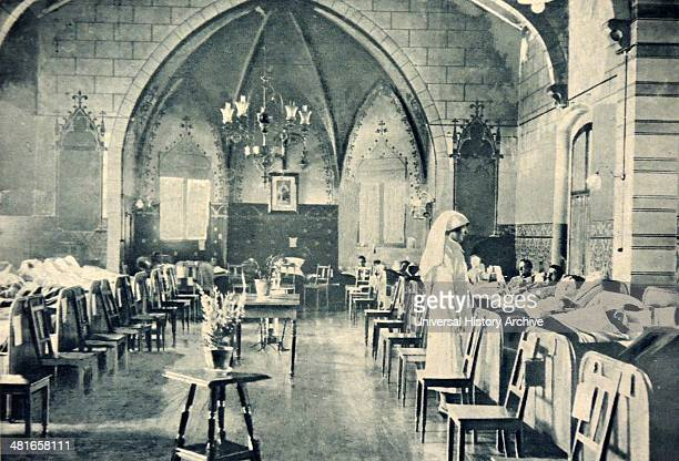 It had been converted into a hospital by the Germans 1919