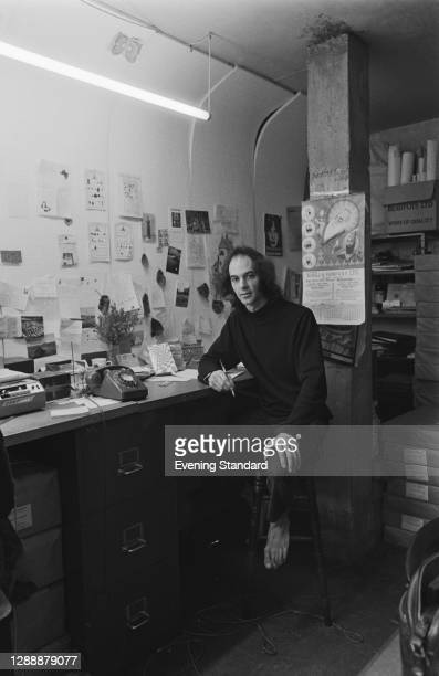 British writer and activist Nicholas Saunders , author of the book 'Alternative London', UK, November 1971.