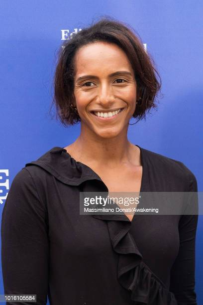 British writer broadcaster and former barrister Afua Hirsch attends a photocall during the Edinburgh International Book Festival on August 13 2018 in...