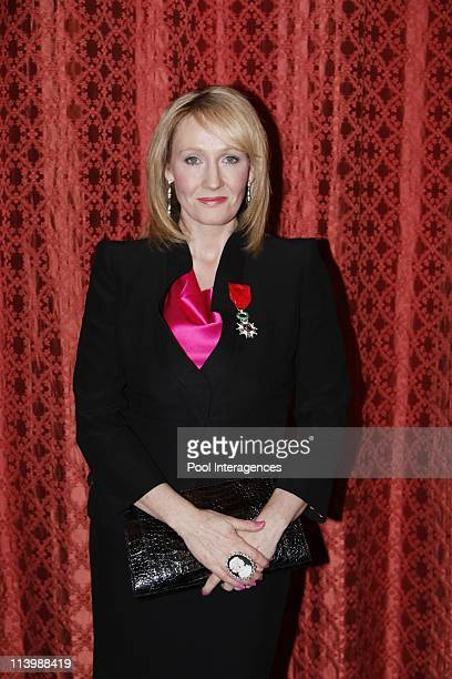 British writer JK Rowling awarded by Nicolas Sarkozy In Paris France On February 03 2009British writer JK Rowling poses after she was awarded with...