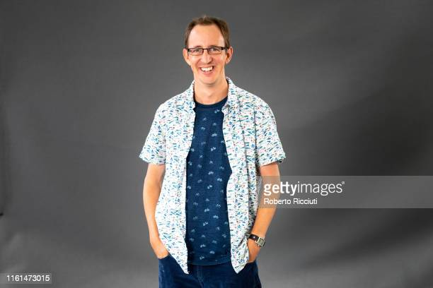 British writer Nathan Filer attends a photocall during the Edinburgh International Book Festival 2019 on August 13, 2019 in Edinburgh, Scotland.