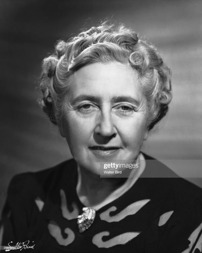 British writer of crime and detective fiction, Dame Agatha Christie (1891 - 1976).