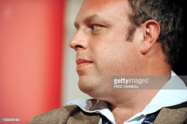 British writer Owen Matthews takes part in a conference on May 22 2010 in SaintMalo western France during the 21th edition of the Etonnants Voyageurs...
