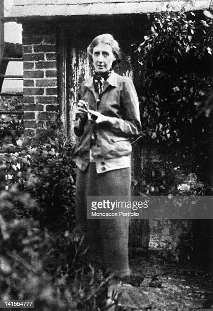 British writer Virginia Woolf in the garden of her house in Rodmell Rodmell 1926