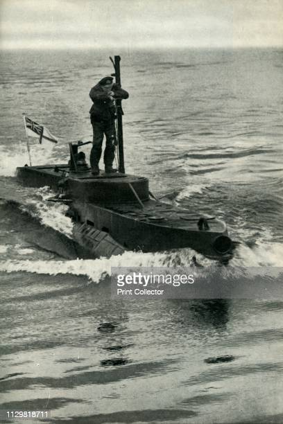 British XCraft midget submarine World War II 1945 'New Weapons' From His Majesty's Submarines [His Majesty's Stationery Office London 1945] Artist...