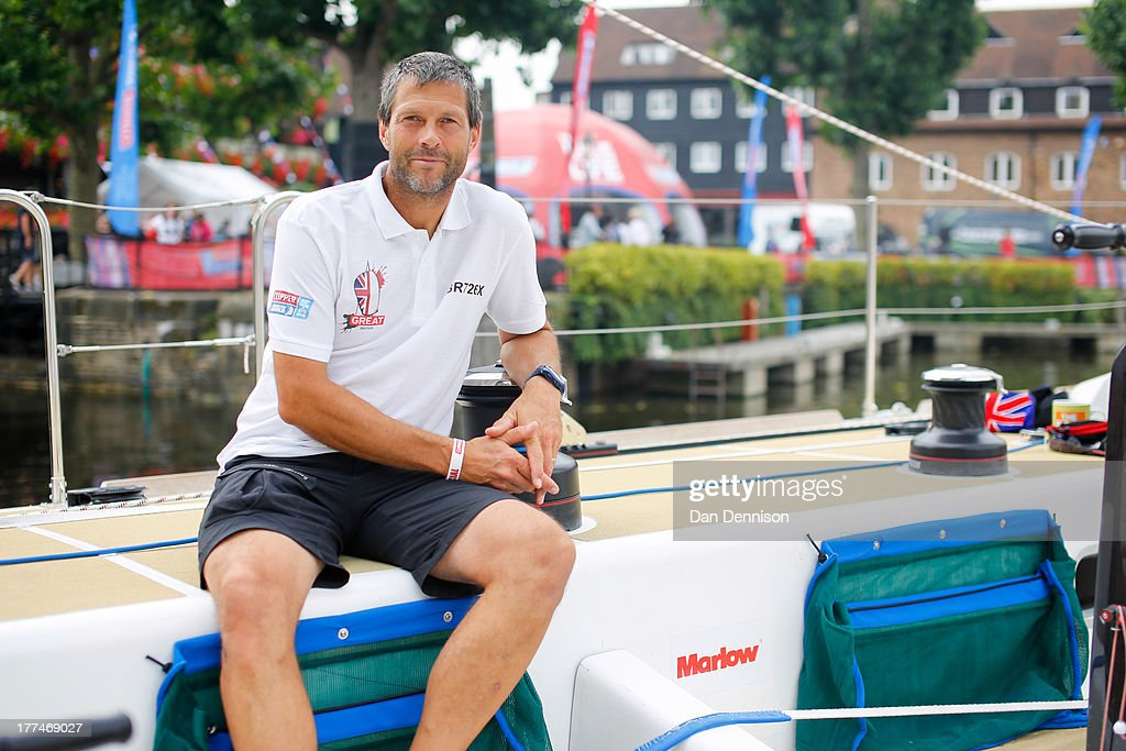 British yachstman Simon Talbot, skipper of the clipper ship 'GREAT Britain', on board the race yacht moored in St Katherine's Dock, east London on August 23, 2013. The 40,000 mile, 8-leg course begins on September 1 and will visit six continents, taking eleven months to complete.