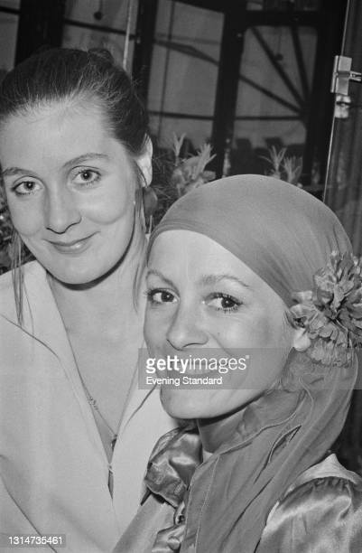 British yachtswoman and later novelist Clare Francis with Eve Bonham, who will be partnering her in the 1974 Round Britain Race, UK, 31st May 1974.