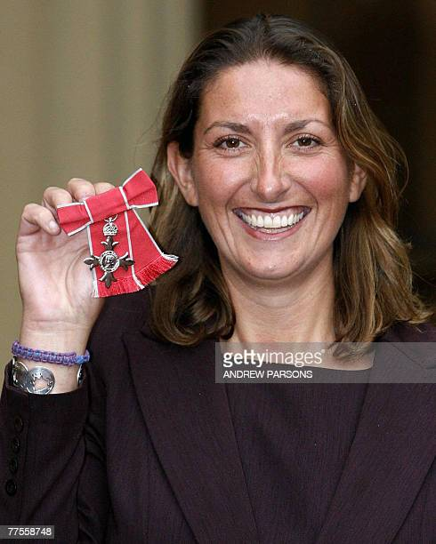British yachtswoman Denise Caffari poses after receiving her Member of the British Empire from the Prince of Wales at Buckingham Palace in London 25...