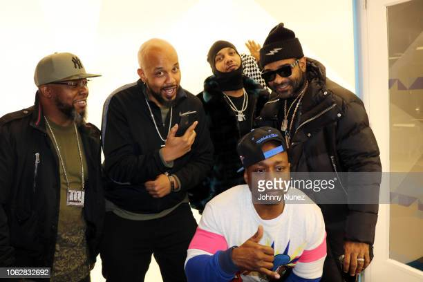 "British Young, Tuma Basa, Juelz Santana, Freekey Zekey, and Jim Jones attend the ""Dipset: Band Of Brothers"" Screening at YouTube Space on November..."