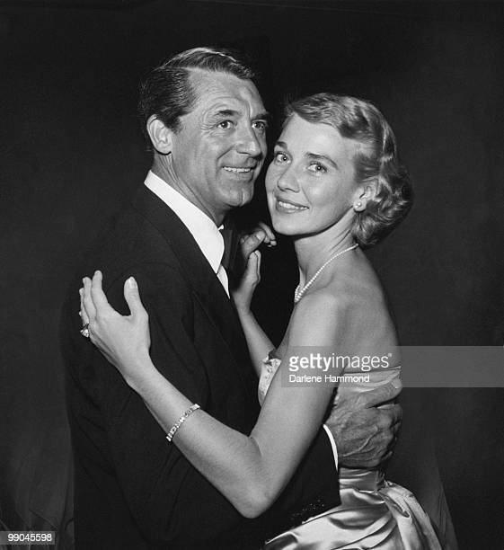 BritishAmerican actor Cary Grant with his third wife actress and writer Betsy Drake at an Academy Awards at Romanoff's Beverly Hills circa 1955
