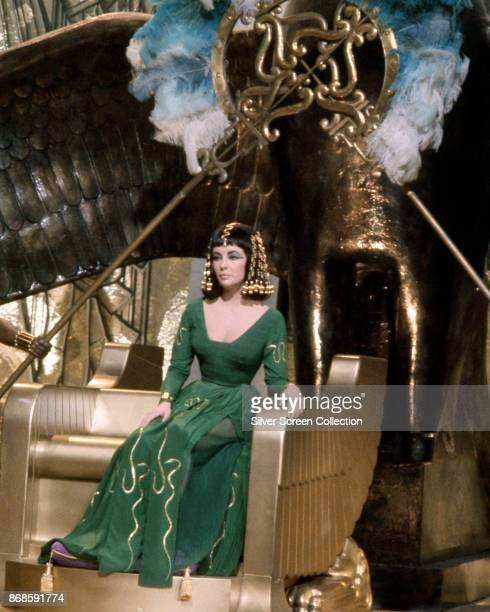 BritishAmerican actress Elizabeth Taylor in a scene from the film 'Cleopatra' 1963