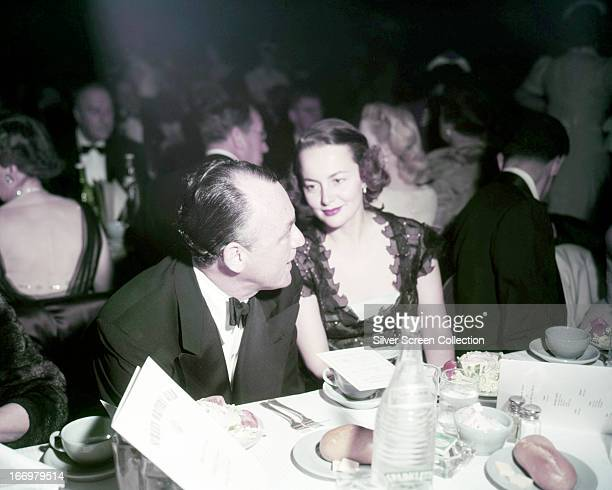 BritishAmerican actress Olivia de Havilland at a formal dinner circa 1945