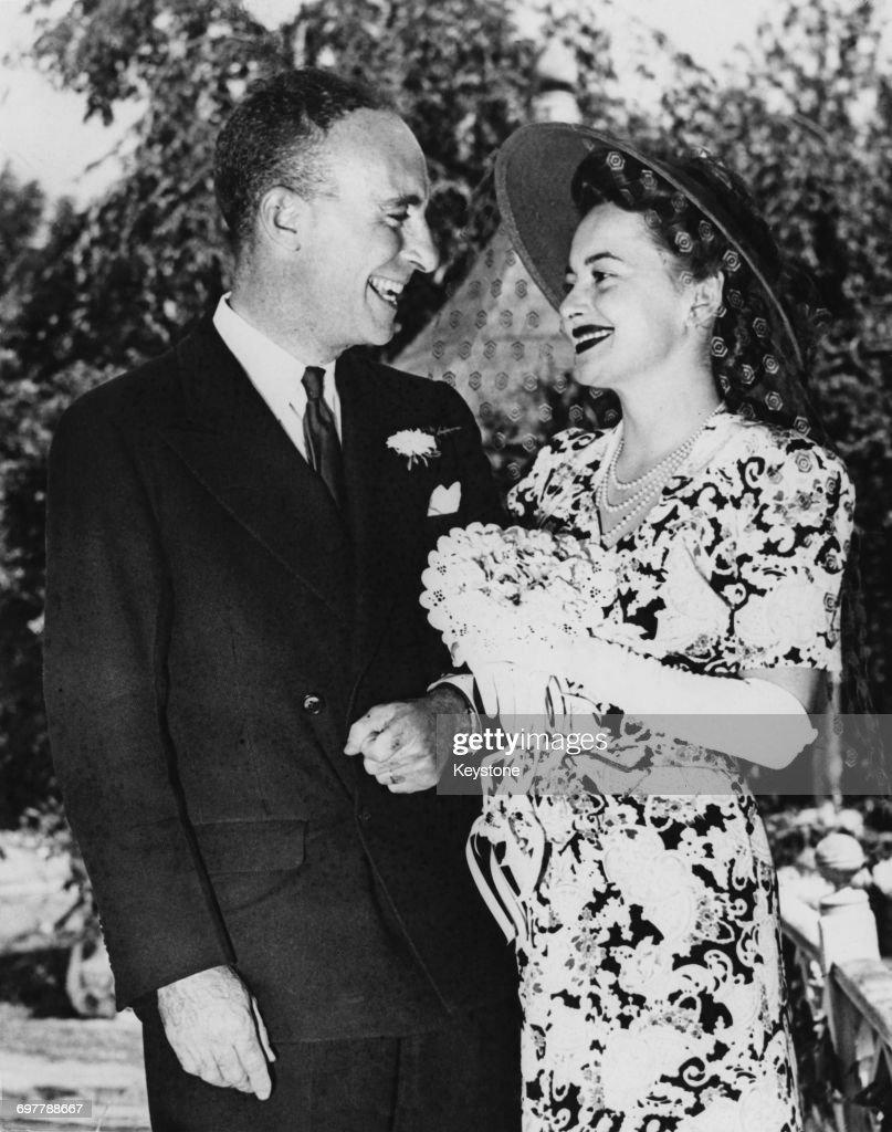 De Havilland And Goodrich Marry : News Photo