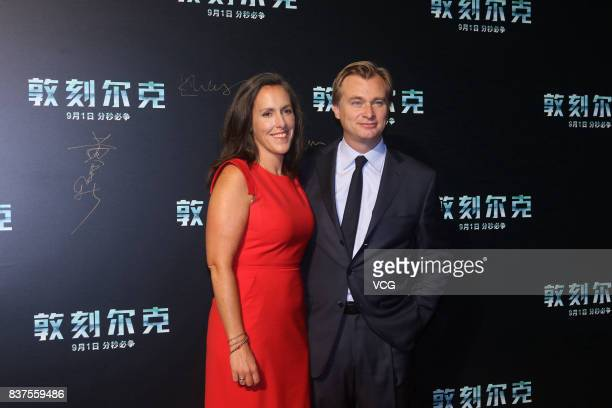 BritishAmerican director/producer/screenwriter Christopher Nolan and wife film producer Emma Thomas attend the premiere of film 'Dunkirk' on August...