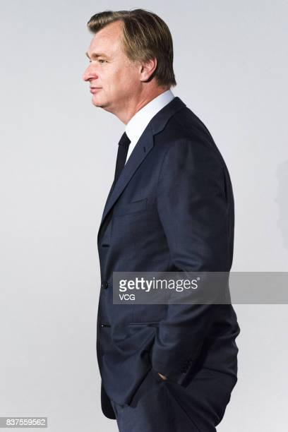 BritishAmerican director/producer/screenwriter Christopher Nolan attends the premiere of film 'Dunkirk' on August 22 2017 in Beijing China