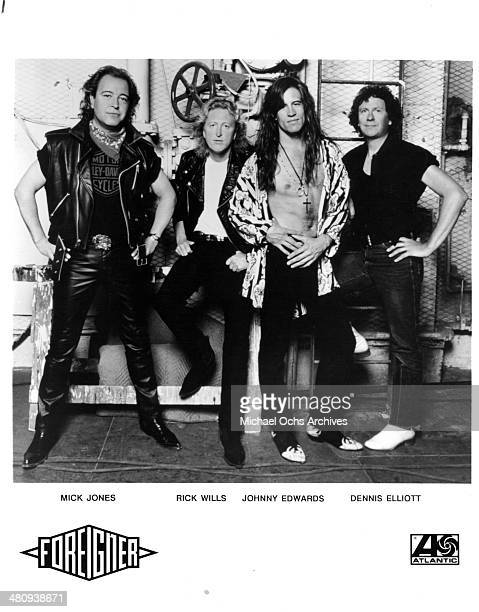 BritishAmerican rock band Foreigner poses