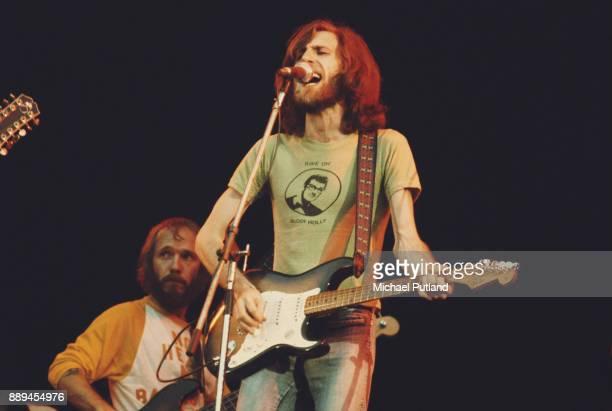 BritishAmerican singersongwriter and musician Graham Nash of folk rock supergroup Crosby Stills Nash Young performing at Wembley Stadium UK 14th...