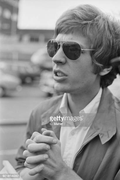 BritishAmerican singersongwriter composer and record producer Scott Walker at Heathrow Airport UK 5th July 1968
