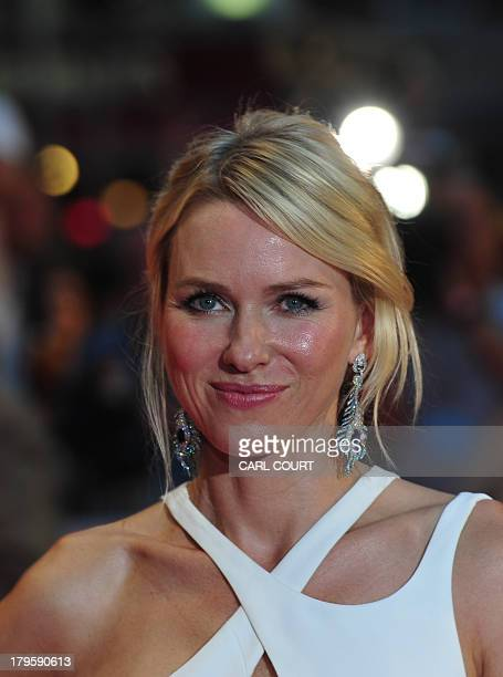 BritishAustralian actress Naomi Watts attends the world premiere of Diana in central London on September 5 2013 The film is a biopic of the late...