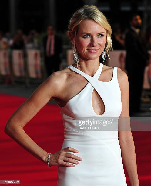 BritishAustralian actress Naomi Watts poses on the red carpet as she attends the world premiere of Diana in central London on September 5 2013 The...