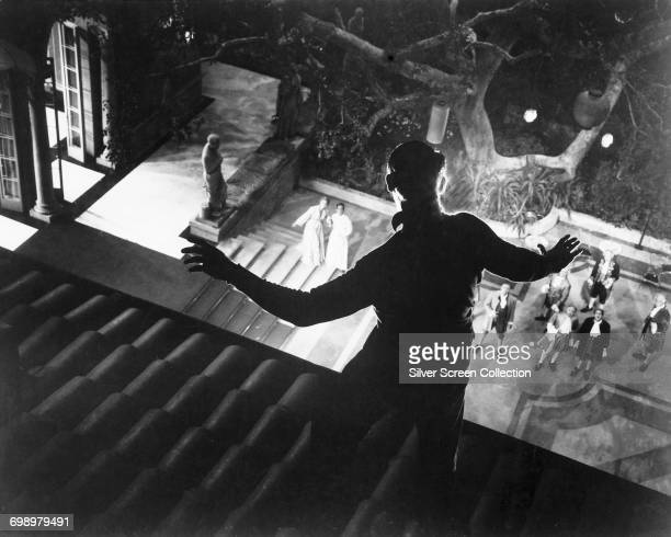 Britishborn actor Cary Grant as former thief John Robie in the rooftop finale of the Alfred Hitchcock thriller 'To Catch a Thief' 1955