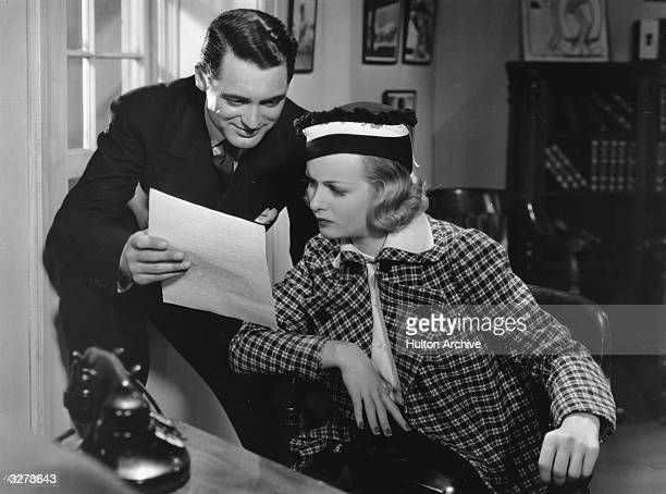 Britishborn actor Cary Grant stars with American actress Joan Bennett as a private detective and his wisecracking girlfriend in the Paramount comedy...