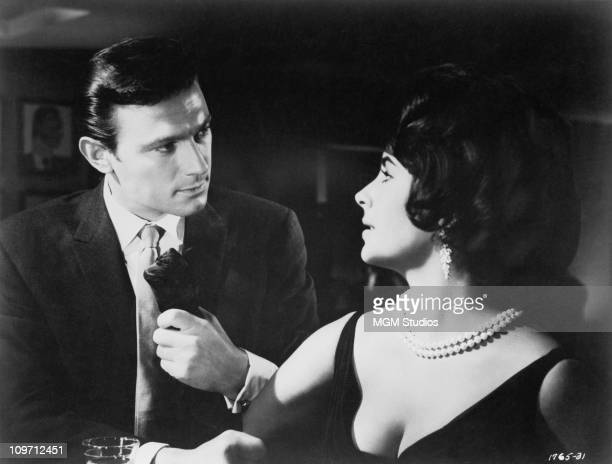 Britishborn actress Elizabeth Taylor and British actor Laurence Harvey star in the MGM film 'Butterfield 8' 1960