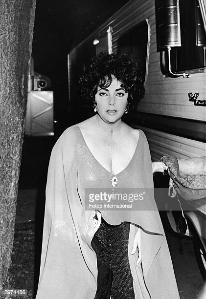 British-born actress Elizabeth Taylor attends an invitation-only party im her honor, Hollywood, California, November 1977. The event was taped for a...