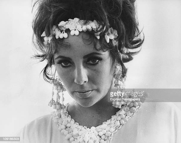 Britishborn actress Elizabeth Taylor on the set of the film 'Boom' 1967
