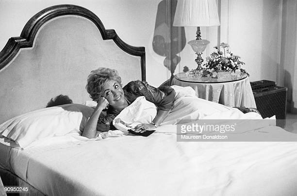 British-born actress Elizabeth Taylor stars as aging actress Katherine Cole in 'Intimate Strangers', an episode of the television series 'Hotel',...