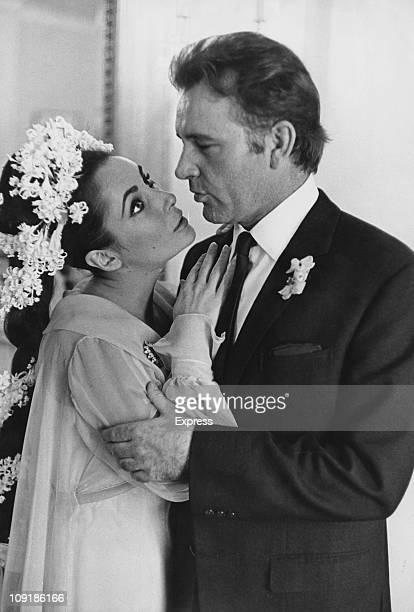 Britishborn actress Elizabeth Taylor weds Welsh actor Richard Burton in Montreal Canada 15th March 1964