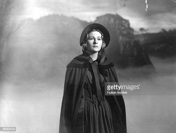 Britishborn actress Joan Fontaine the stage name of Joan De Havilland as she appears in the film 'Jane Eyre' adapted from the novel by Charlotte...
