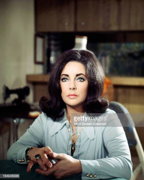 Britishborn American actress Elizabeth Taylor as Fran Walker in 'The Only Game in Town' directed by George Stevens 1970