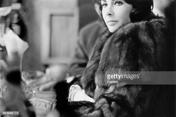 Britishborn American actress Elizabeth Taylor at London Airport before a flight to Paris and the US 25th November 1960